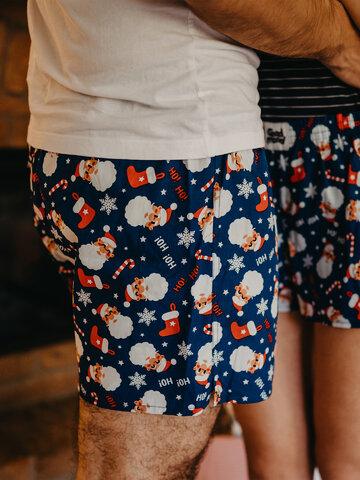 Rabatt Lustige Shorts für Männer Weihnachtsmann