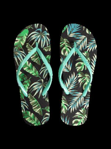 Lifestyle foto Șlapi Veseli Frunze tropicale