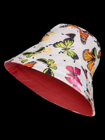 Výnimočný darček od Dedoles Sombrero alegre de pescador para mujer Mariposas de colores