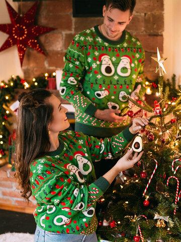 Tip na darček Maglione di Natale Buonumore Passione Avocado