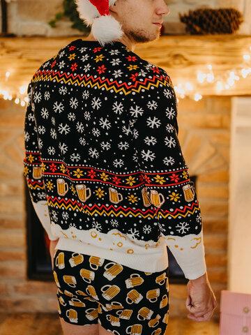 Foto Veselý vánoční svetr Točené pivo