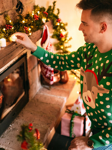 Ausverkauf Lustiger Weihnachtspullover Rudolph