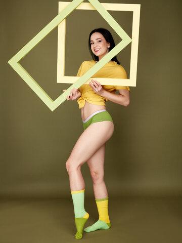 Gift idea Yellow & Green Sports Socks