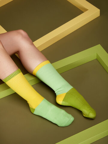Looking for an original and unusual gift? The gifted person will surely surprise with Yellow & Green Sports Socks