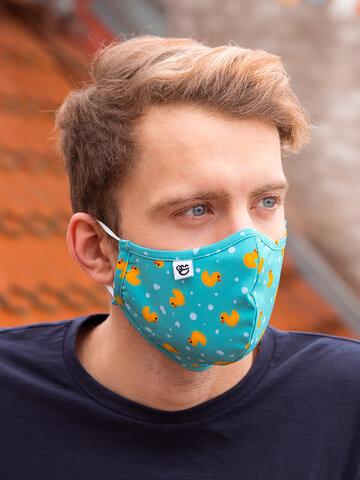 Pre dokonalý a originálny outfit Vrolijke antibacterieel mondkapje Eenden - grote maat