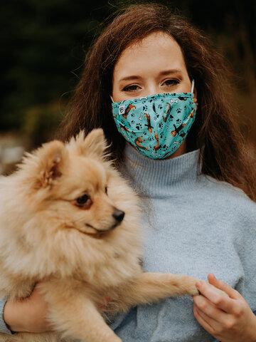 für ein vollkommenes und originelles Outfit Lustige Gesichtsmaske Dackel