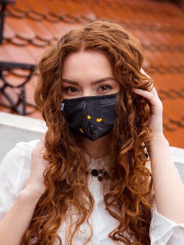 Foto Mască Facială Veselă Ochi de Pisică
