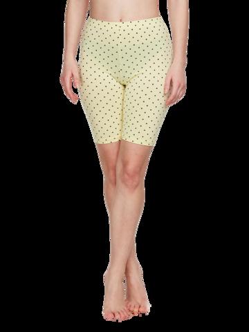 Pre dokonalý a originálny outfit Žlté krátke bavlnené legíny Bodky