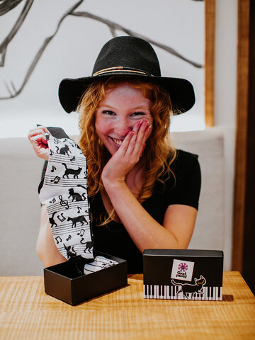 Suchen Sie ein originelles und außergewöhliches Geschenk? überrascht den Beschenkten sicher Geschenkbox Piano-Katze
