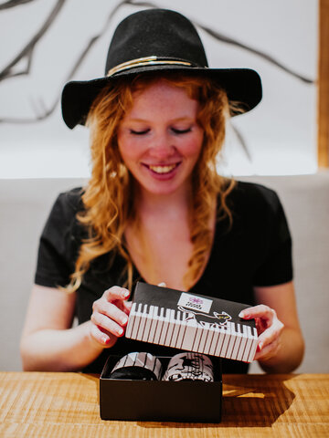 Foto Geschenkbox Piano-Katze