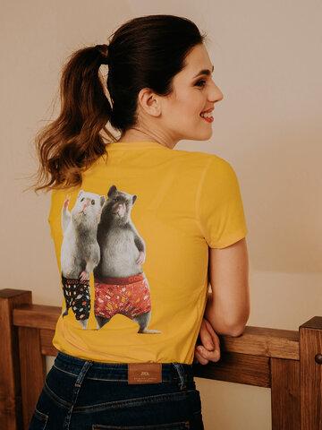 Potešte sa týmto kúskom Dedoles Živahna ženska majica Dedolesovi hrčki