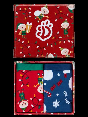 Lifestyle foto Božična darilna škatla ženske hlačke