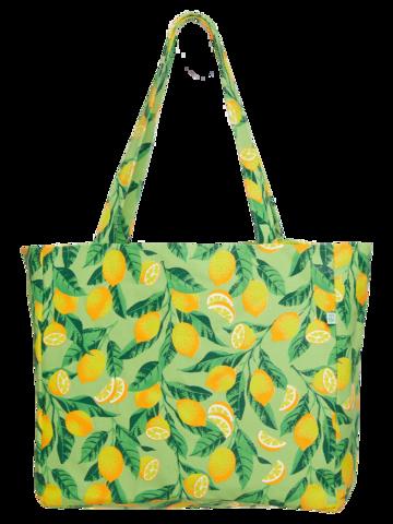 Lifestyle foto Veselá plážová taška Citróny