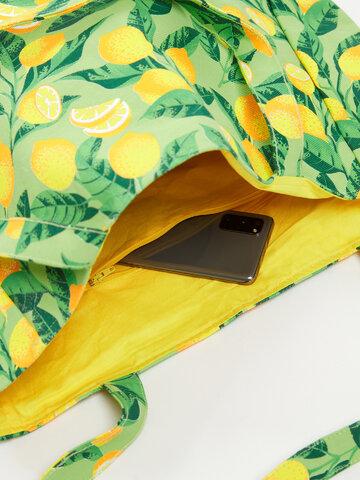 Výnimočný darček od Dedoles Veselá plážová taška Citróny
