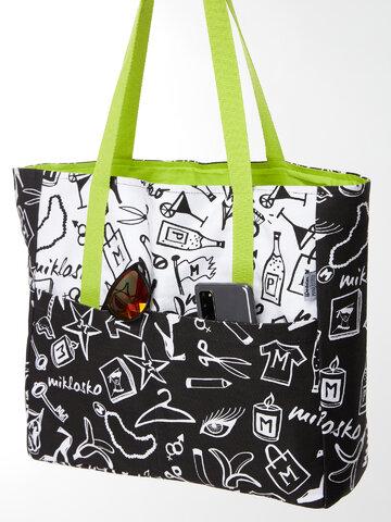 Hledáte originální a neobvyklý dárek? Obdarovaného zaručeně překvapí Veselá plážová taška Miklosko pro Dedoles