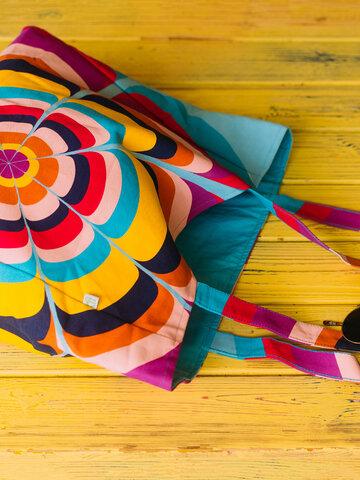 Gift idea Beach Bag Splashing Circles
