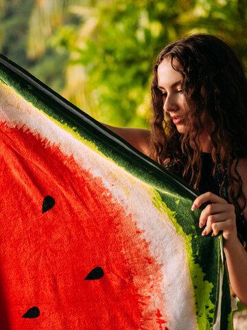Tip na darček Veselý okrúhly plážový uterák Svieži melón
