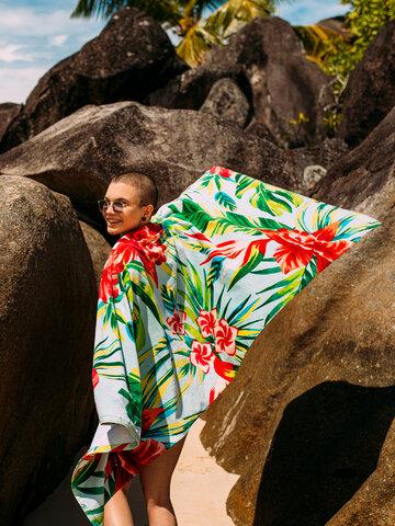 Tip na darček Veselý plážový uterák Tropické kvety