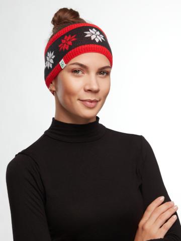 Faceți-vă o bucurie cu acest produs Dedoles Bentiță Veselă Tricotată pentru Femei Crăciun în Alb & Negru