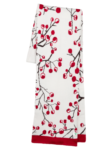 Lifestyle foto Veselý dámský pletený šál Zimní bobule