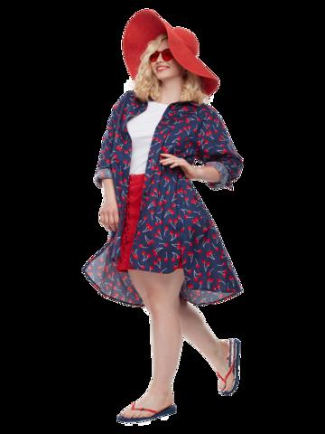 Lifestyle foto Veselé košilové šaty Třešně