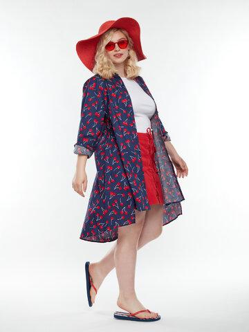 Výjimečný dárek od Dedoles Veselé košilové šaty Třešně