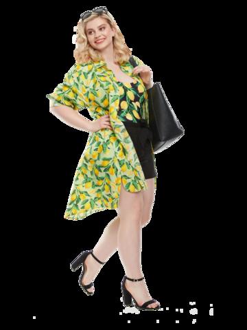 Dedoles oryginalny prezent Wesoła sukienka koszulowa Cytryny