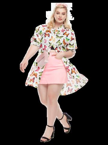 Gift idea Shirt Dress Colourful Butterflies
