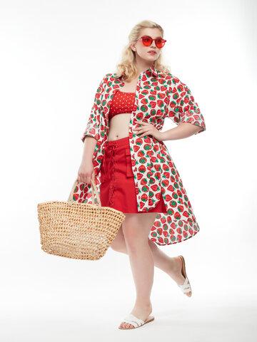 Potešte sa týmto kúskom Dedoles Shirt Dress Strawberries