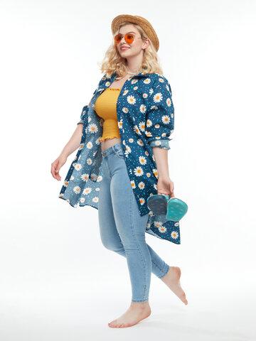 Výprodej Veselé košilové šaty Květ sedmikrásky