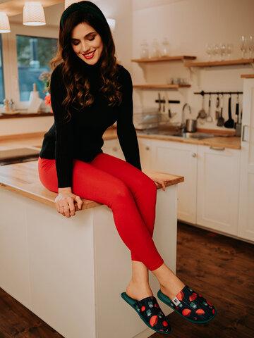 pro dokonalý a originální outfit Červené bavlněné legíny