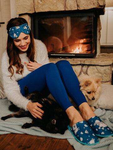 Original gift Dark Blue Cotton Leggings