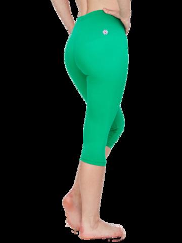Obrázok produktu Zelene tričetrtne bombažne pajkice