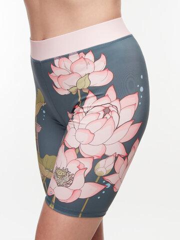 Výpredaj Veselé krátke športové legíny Ružový lotos