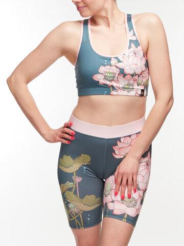 Pre dokonalý a originálny outfit Veselé krátke športové legíny Ružový lotos