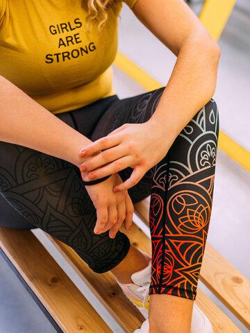 Pre dokonalý a originálny outfit Vesele tajice za vježbanje Siva mandala