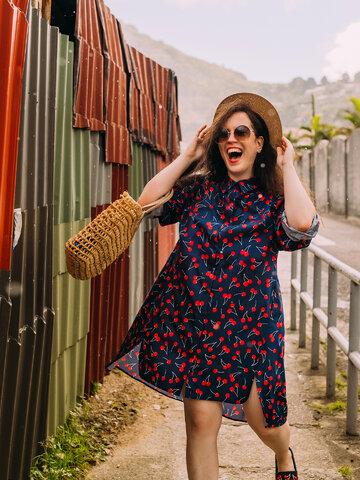 Original gift Shirt Dress Cherries
