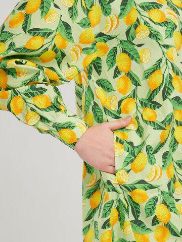 Foto Wesoła sukienka koszulowa Cytryny