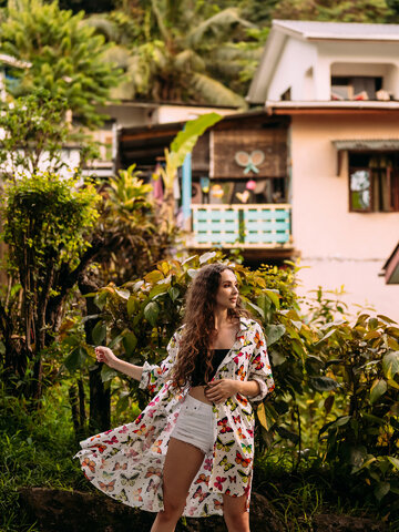 Pre dokonalý a originálny outfit Shirt Dress Colourful Butterflies