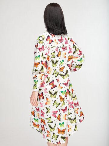 Výnimočný darček od Dedoles Veselé košeľové šaty Farebné motýle