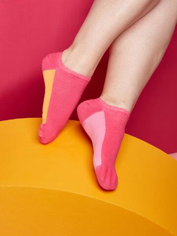 Foto Malinově růžové ponožky do tenisek Cukřík