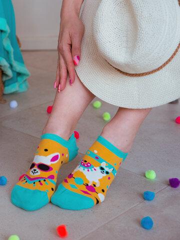 Obrázok produktu Calcetines sneakers alegres Llama divertida