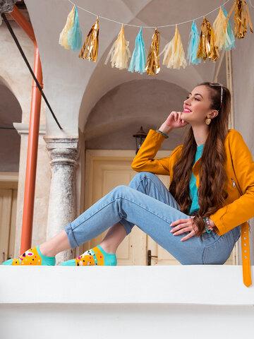 Výpredaj Calcetines sneakers alegres Llama divertida