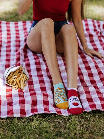 Tip na darček Calcetines sneakers alegres Patatas fritas con kétchup