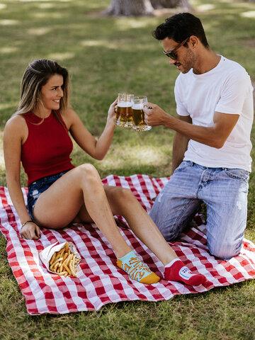 Obrázok produktu Calcetines sneakers alegres Patatas fritas con kétchup