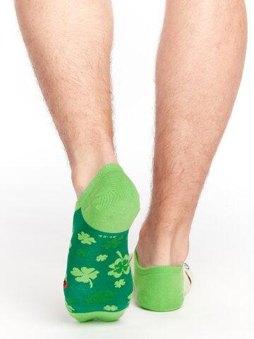 Pre dokonalý a originálny outfit Veselé ponožky do tenisiek Štvorlístok pre štastie