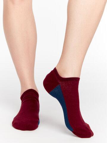 Obrázok produktu Calzini sneaker rosso vino Tallone