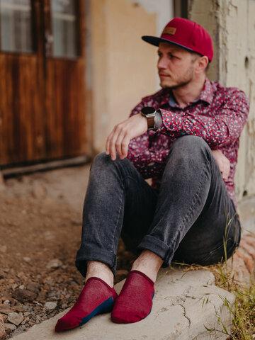 Pre dokonalý a originálny outfit Calzini sneaker rosso vino Tallone