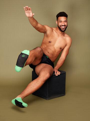 pro dokonalý a originální outfit Zelené ponožky do tenisek Pata