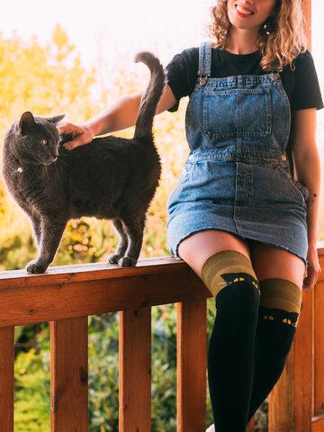 Reducerea Șosete Vesele peste Genunchi Pisica